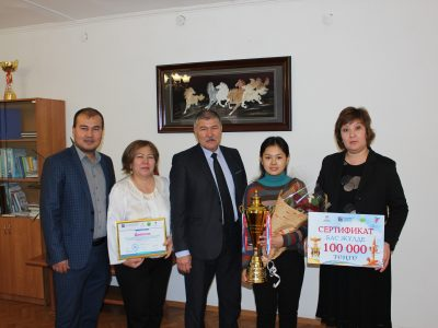 "Tolemisova Uldana Ualikhanov won the "" Grand Prix»"